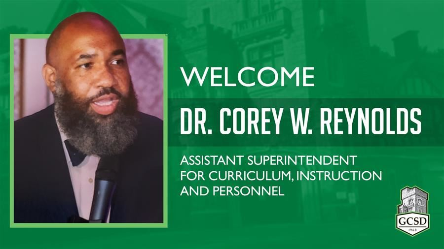 Welcome Dr. Corey W. Reynolds