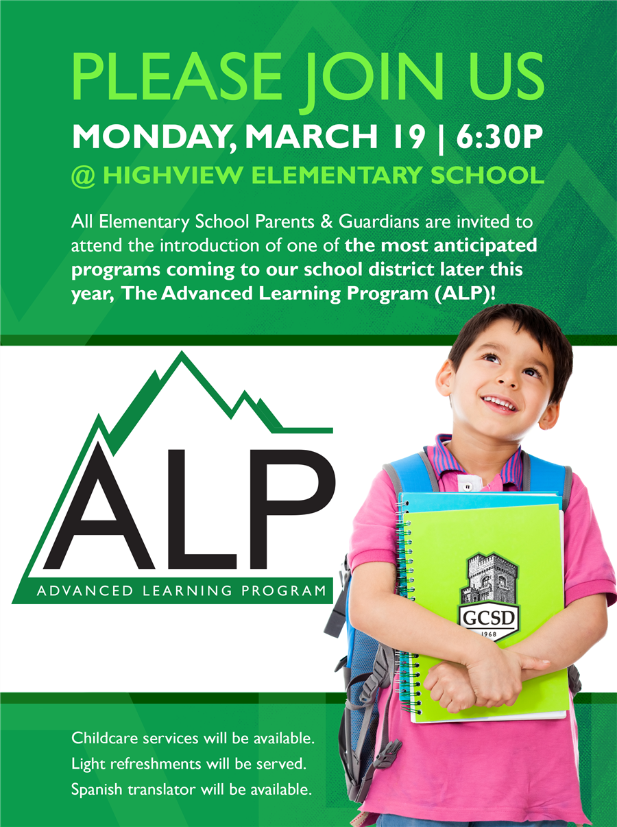 Learn More About Our Advanced Learning Program on Monday, March 19th