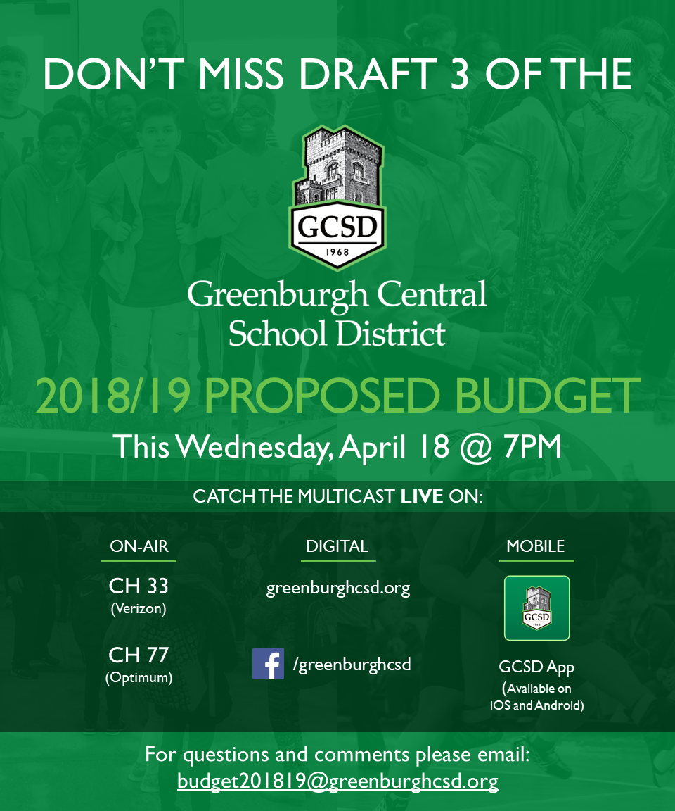 Please View Draft 3 of the Greenburgh Central School District Proposed Budget