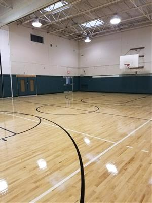 Woodlands Middle High School Small Gym Has a New Look!