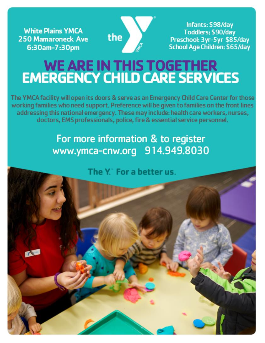 YMCA Emergency Childcare Services