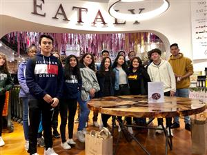 students at eataly