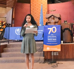 Woodlands Freshman Speaks at United Nations Day